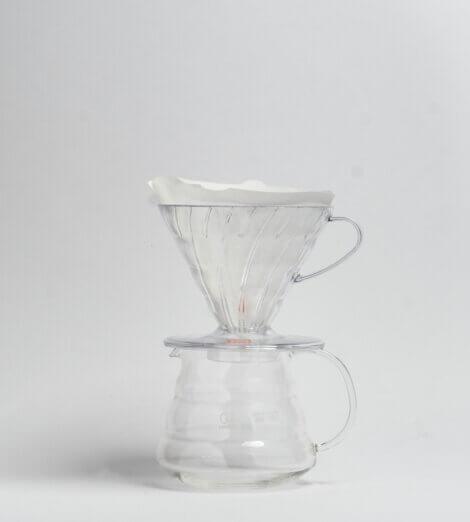 V60-02, Plastic Dripper, clear-3
