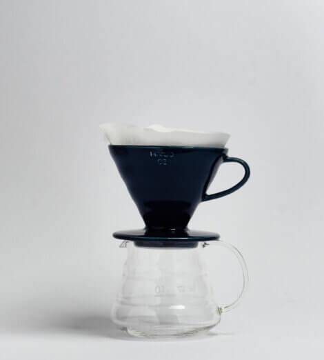 V60-02, Ceramic Dripper, indigo blue-3