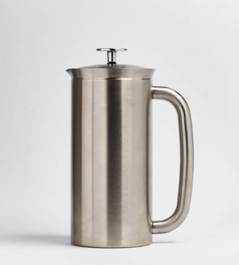 French Press, P7 Edelstahl gebürstet 950ml, isoliert