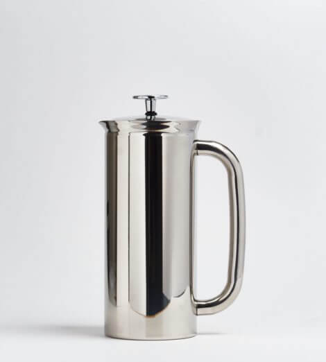 French Press, P7 Edelstahl poliert 550ml, isoliert